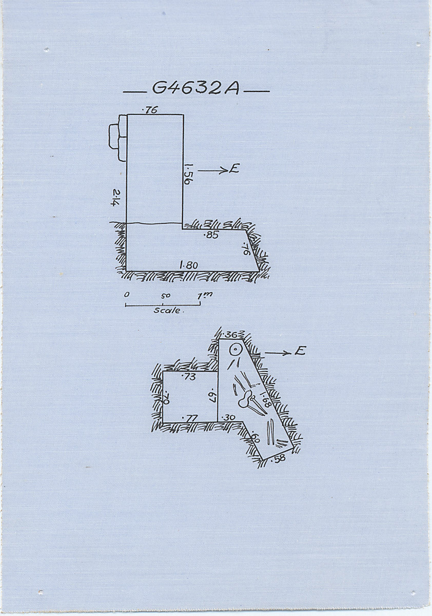 Maps and plans: G 4632, Shaft A