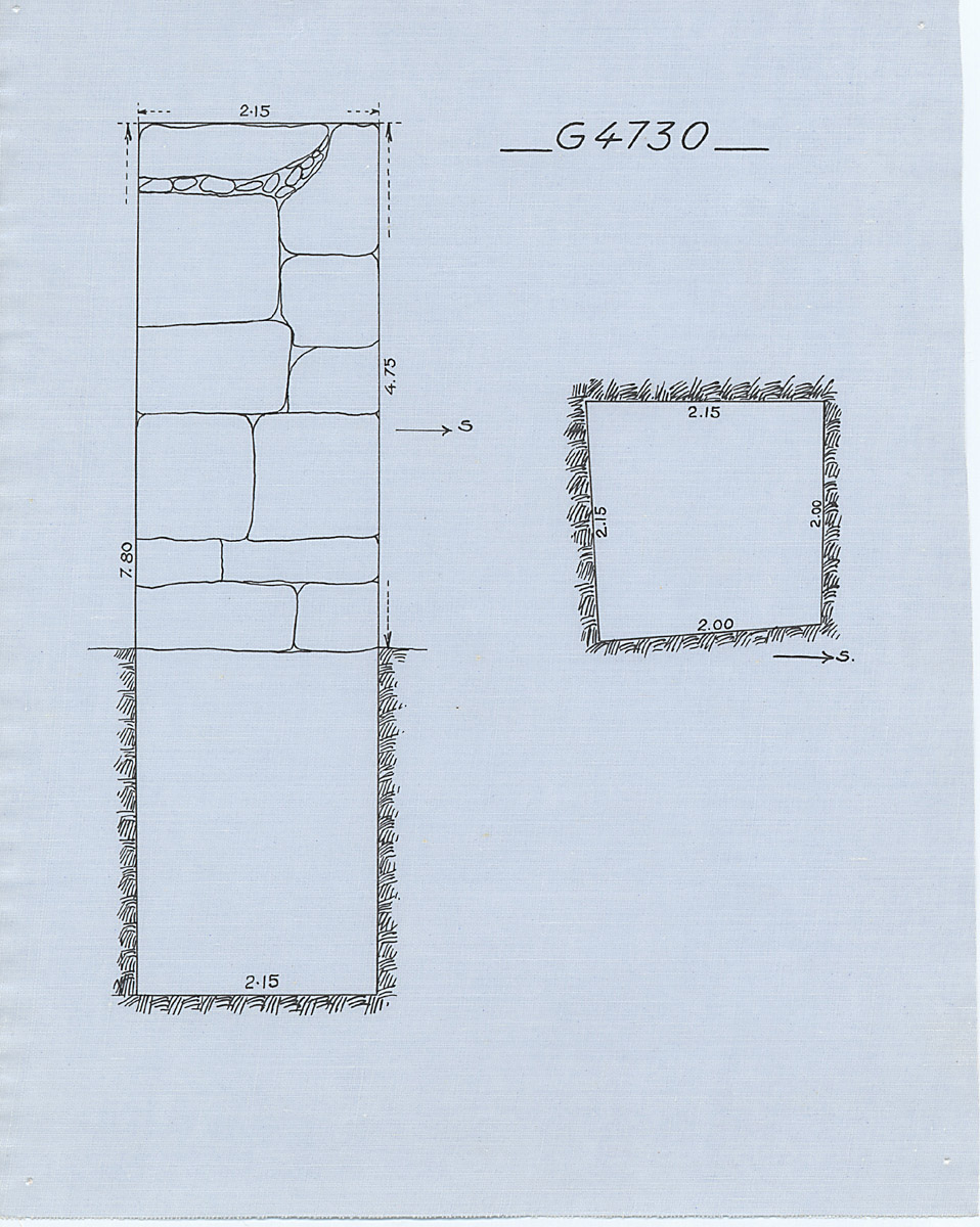 Maps and plans: G 4730, Shaft A
