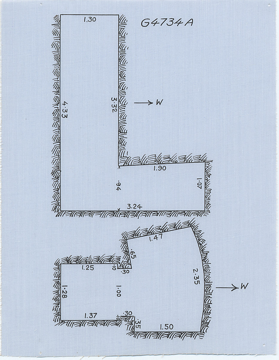 Maps and plans: G 4734, Shaft A