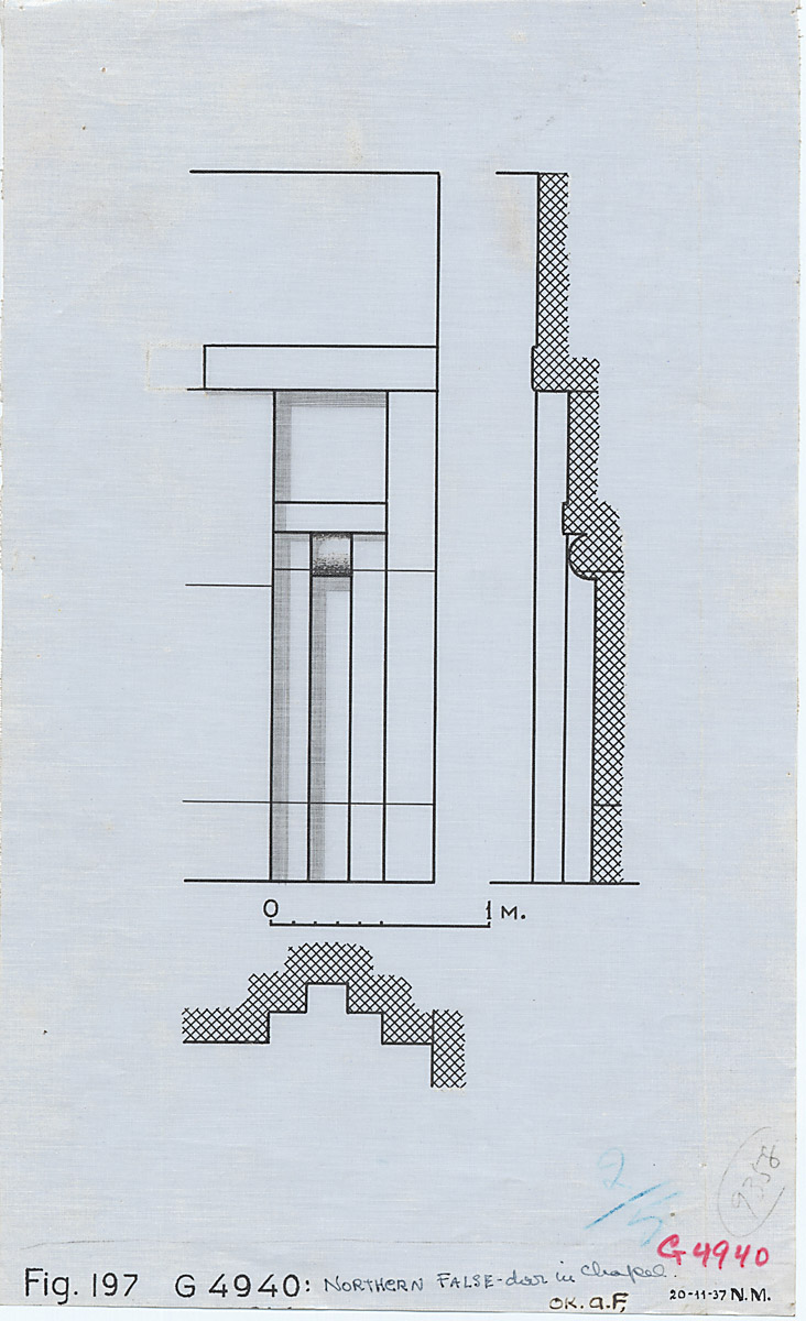 Maps and plans: G 4940, Plan, section, and elevation of north niche