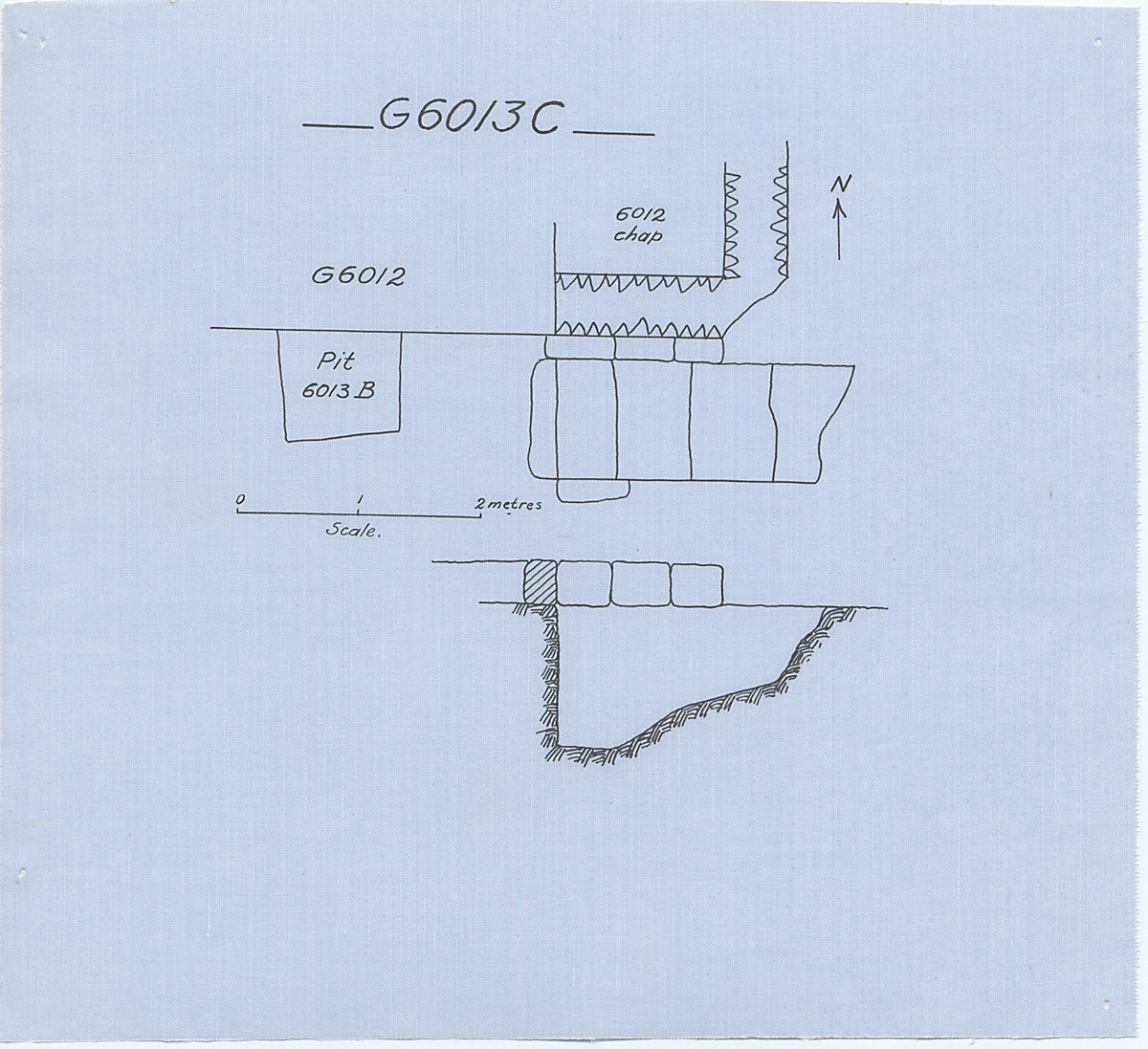Maps and plans: G 6013, Shaft C