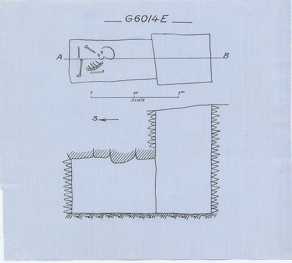 Maps and plans: G 6014, Shaft E