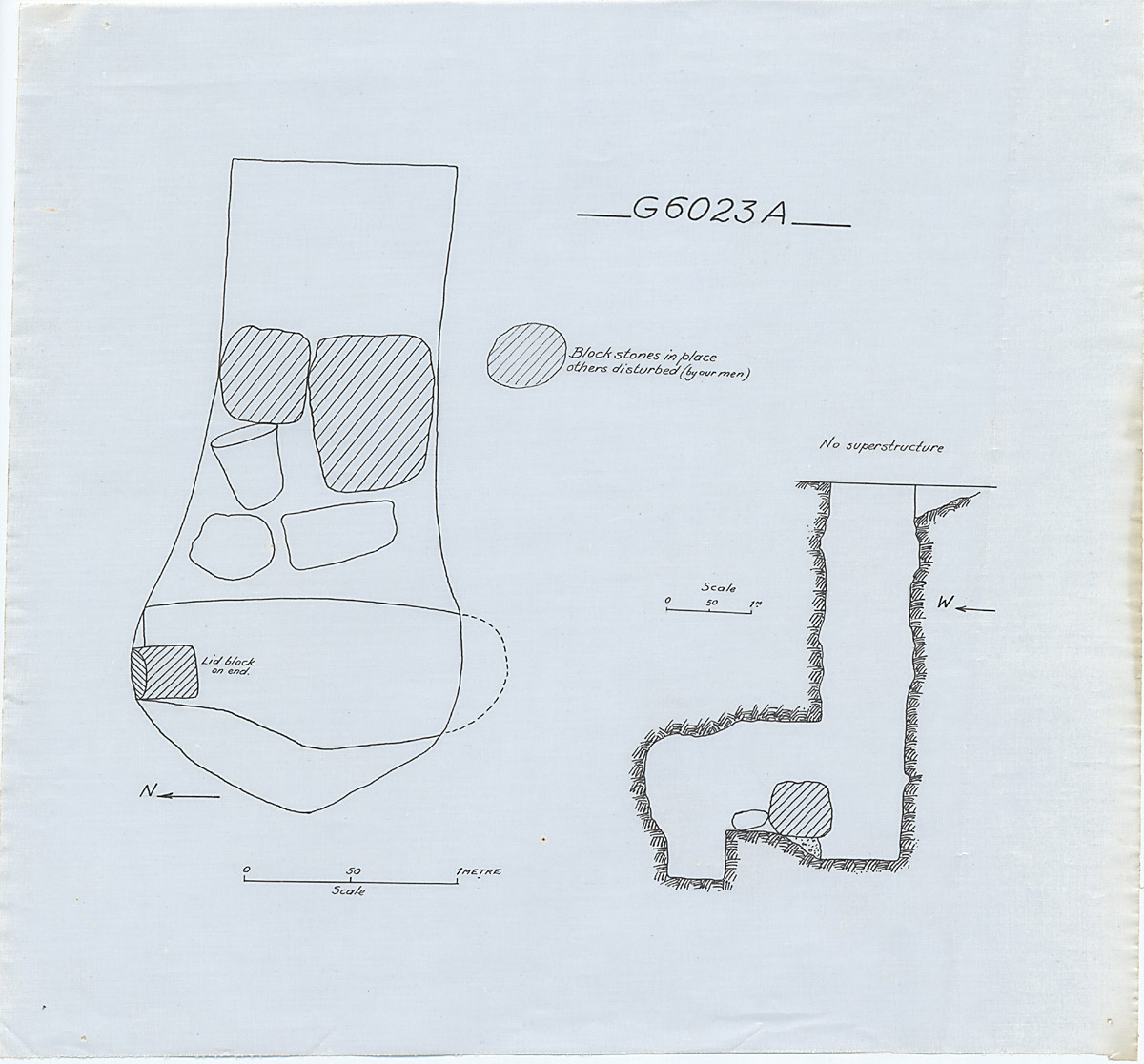 Maps and plans: G 6023, Shaft A