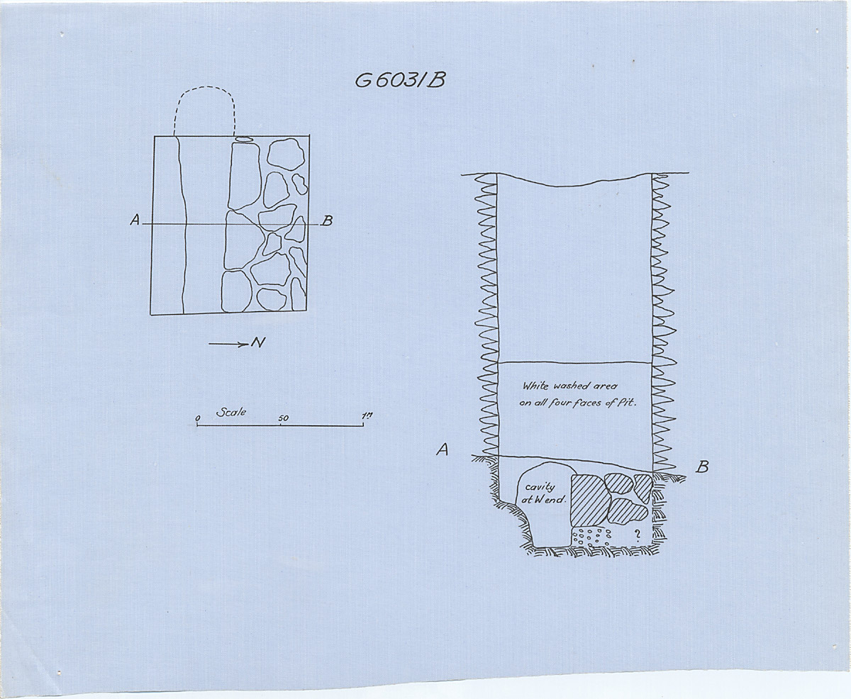 Maps and plans: G 6031, Shaft B