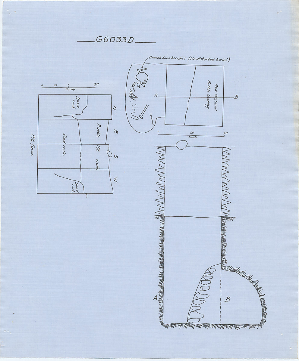 Maps and plans: G 6033, Shaft D