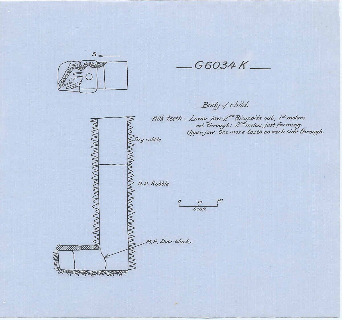Maps and plans: G 6034, Shaft K
