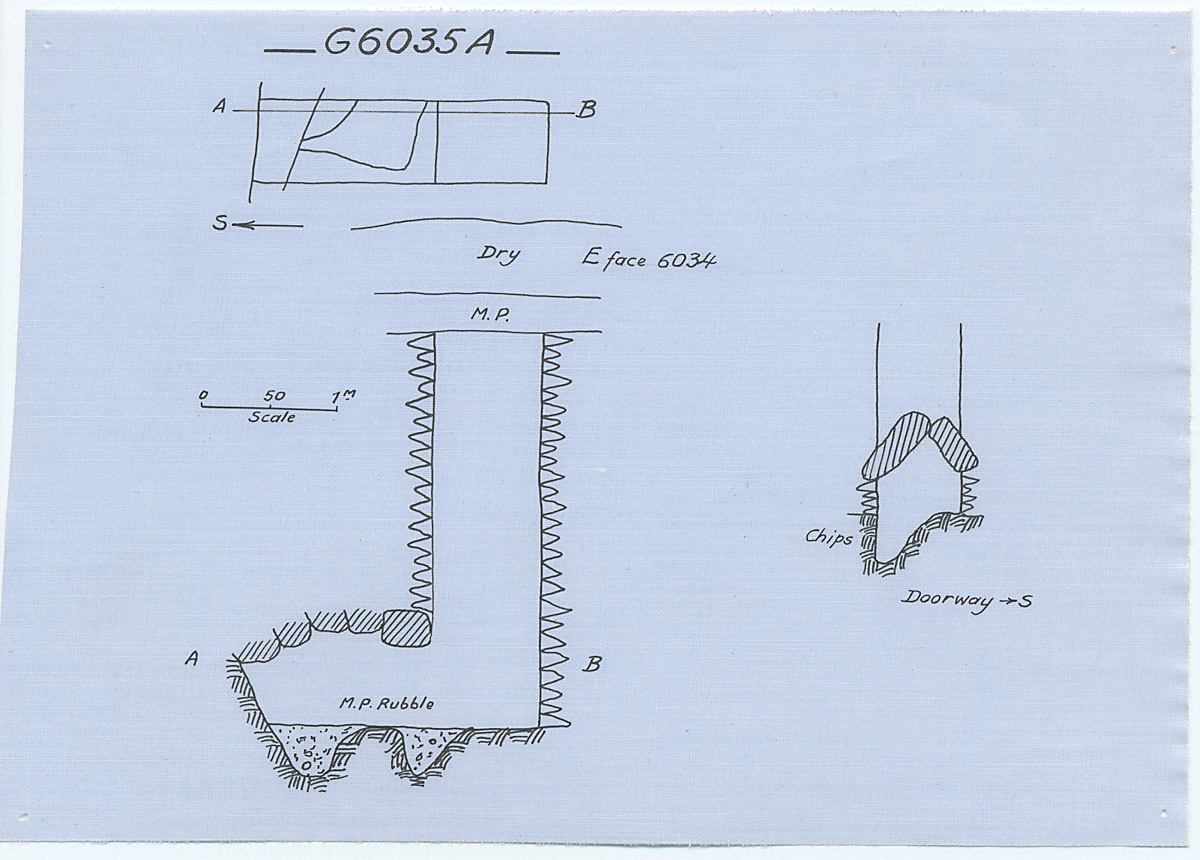 Maps and plans: G 6035, Shaft A