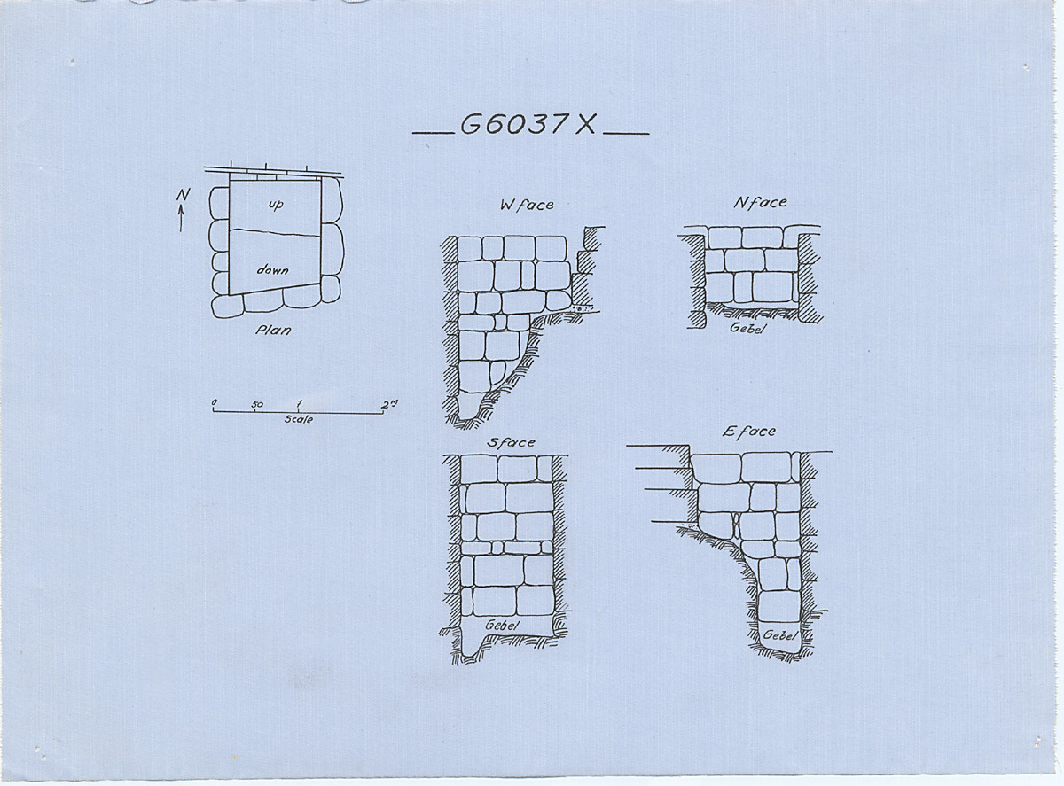 Maps and plans: G 6037, Shaft X