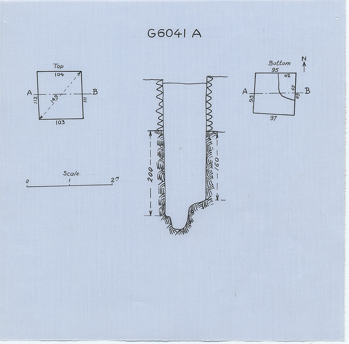 Maps and plans: G 6041, Shaft A