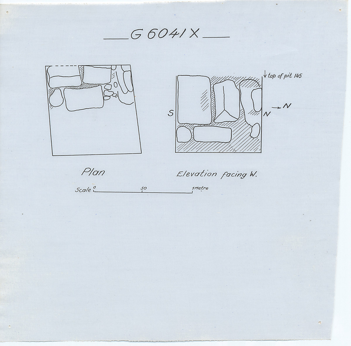 Maps and plans: G 6041, Shaft X