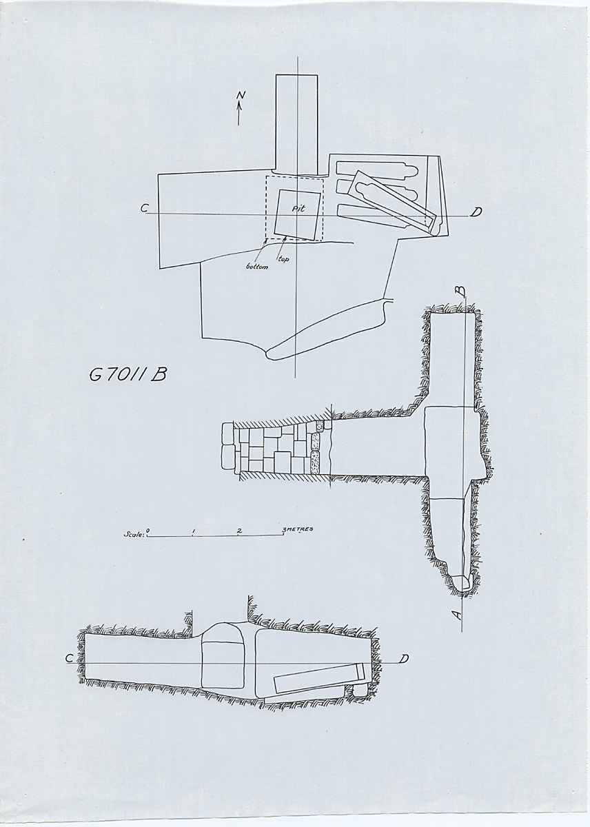 Maps and plans: G 7011, Shaft B