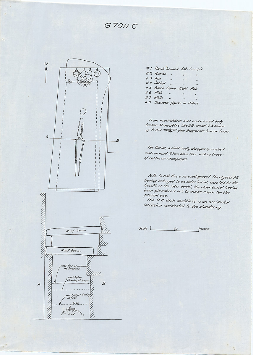 Maps and plans: G 7011, Shaft C