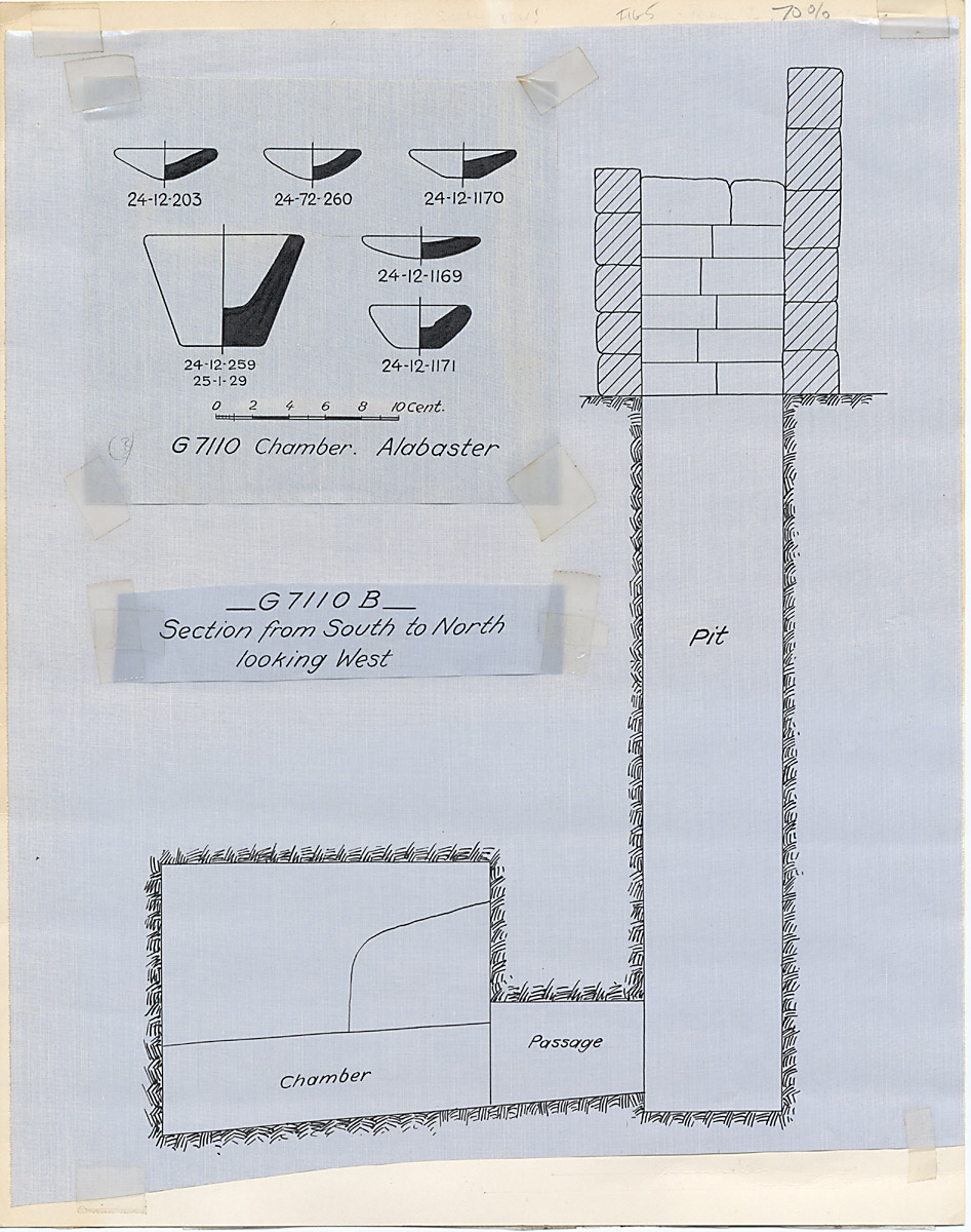Maps and plans: G 7110-7120: G 7110, Shaft B, and stone vessels