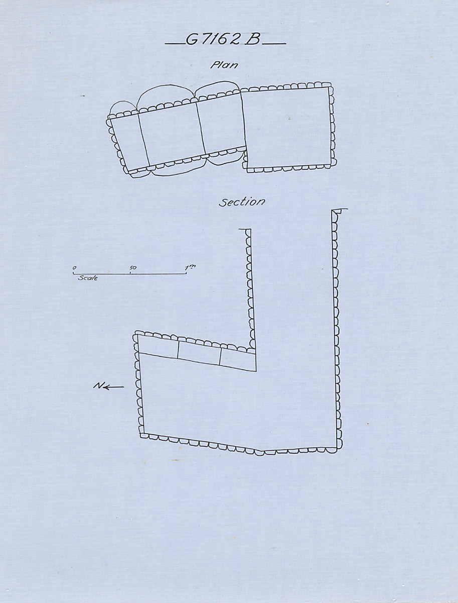 Maps and plans: G 7162, Shaft B