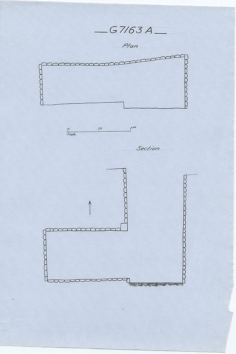 Maps and plans: G 7163, Shaft A
