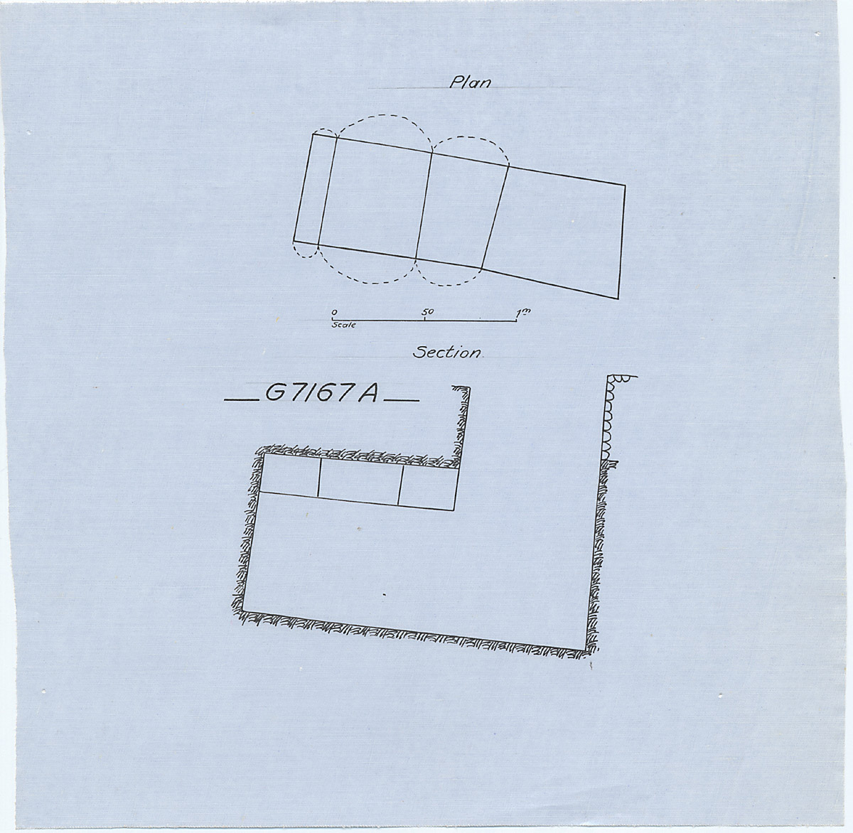 Maps and plans: G 7167, Shaft A