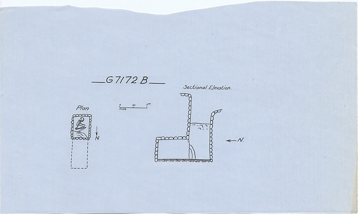 Maps and plans: G 7172, Shaft B