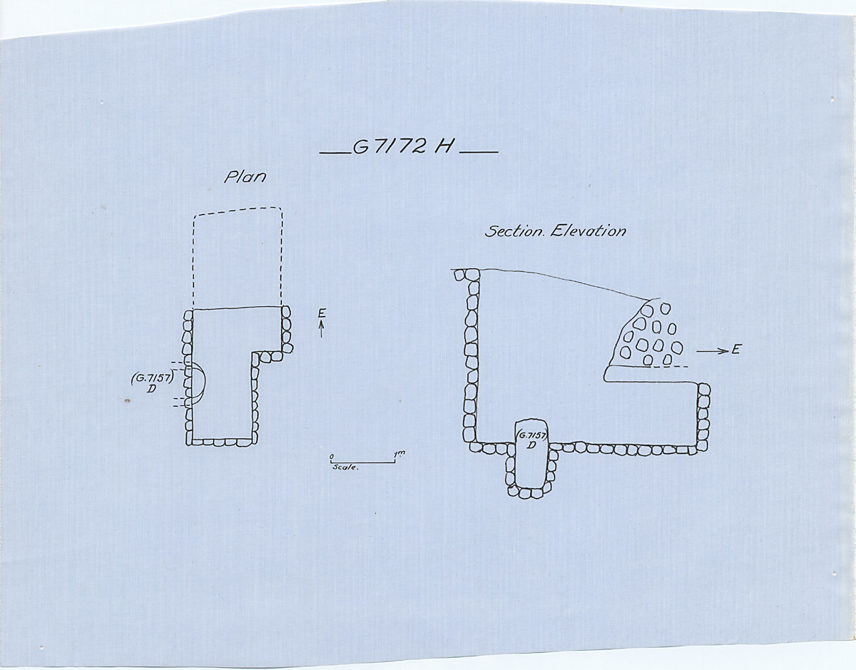 Maps and plans: G 7172, Shaft H