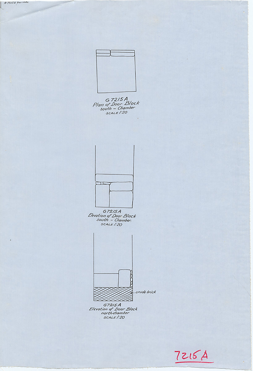 Maps and plans: G 7215, Shaft A, door block