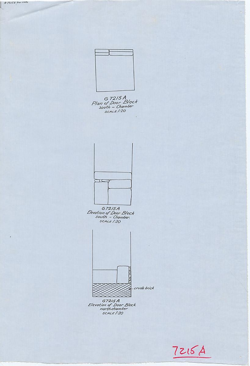 Maps and plans: G 7215, Shaft A, door block