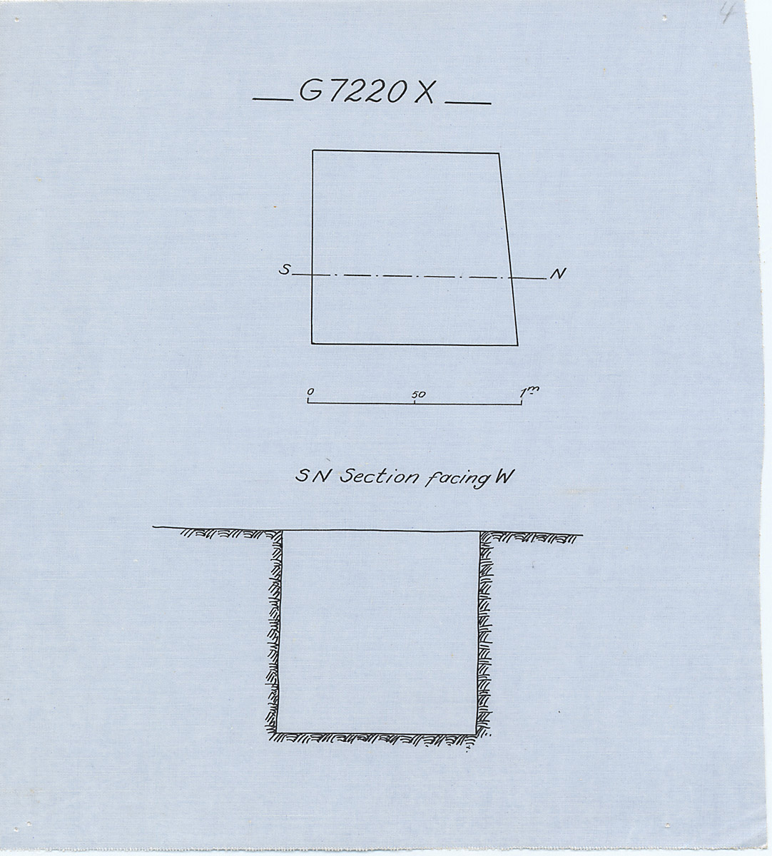 Maps and plans: G 7210-7220: G 7220, Shaft X