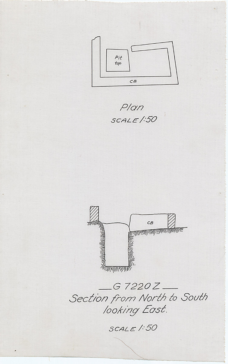 Maps and plans: G 7210-7220: G 7220, Shaft Z