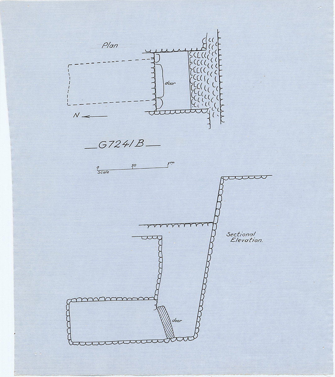 Maps and plans: G 7241, Shaft B