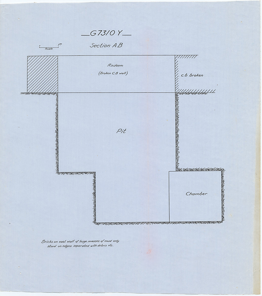 Maps and plans: G 7310-7320: G 7310, Shaft Y