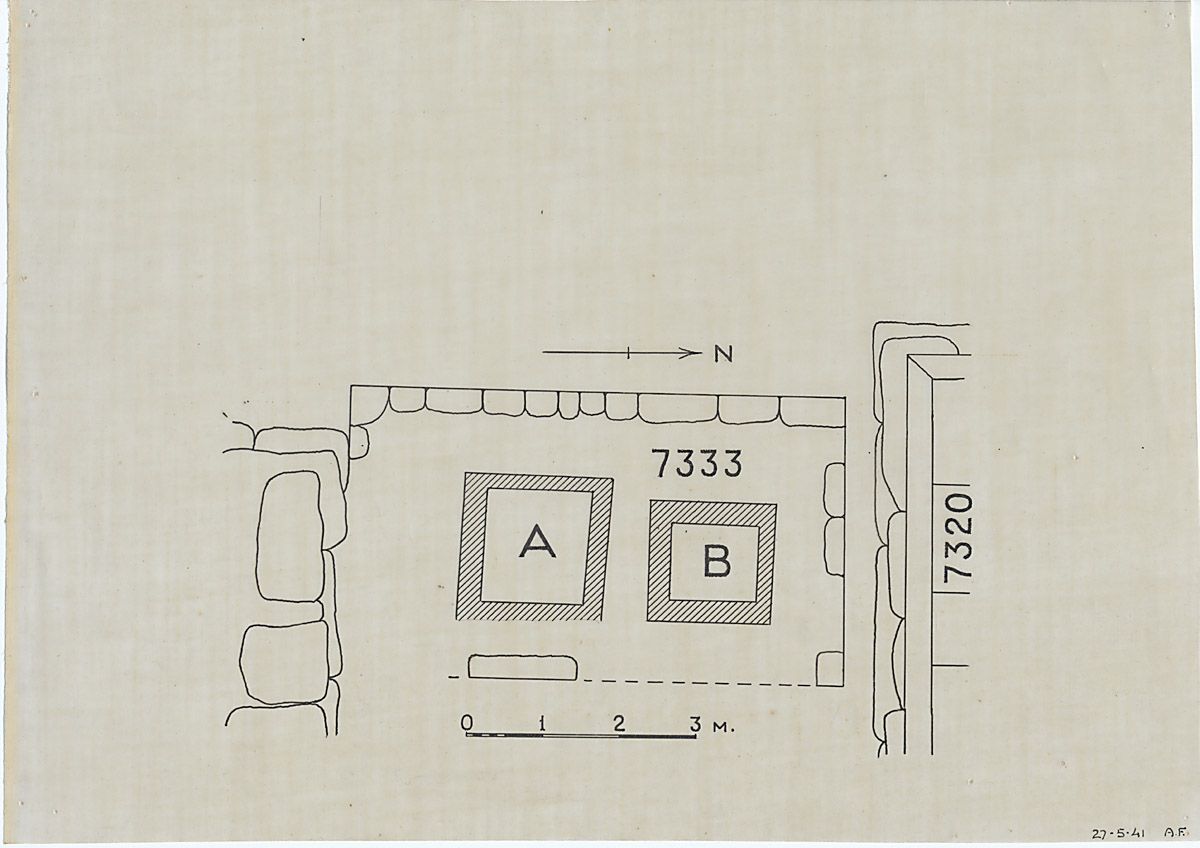 Maps and plans: Plan of G 7333, with position of G 7310-7320