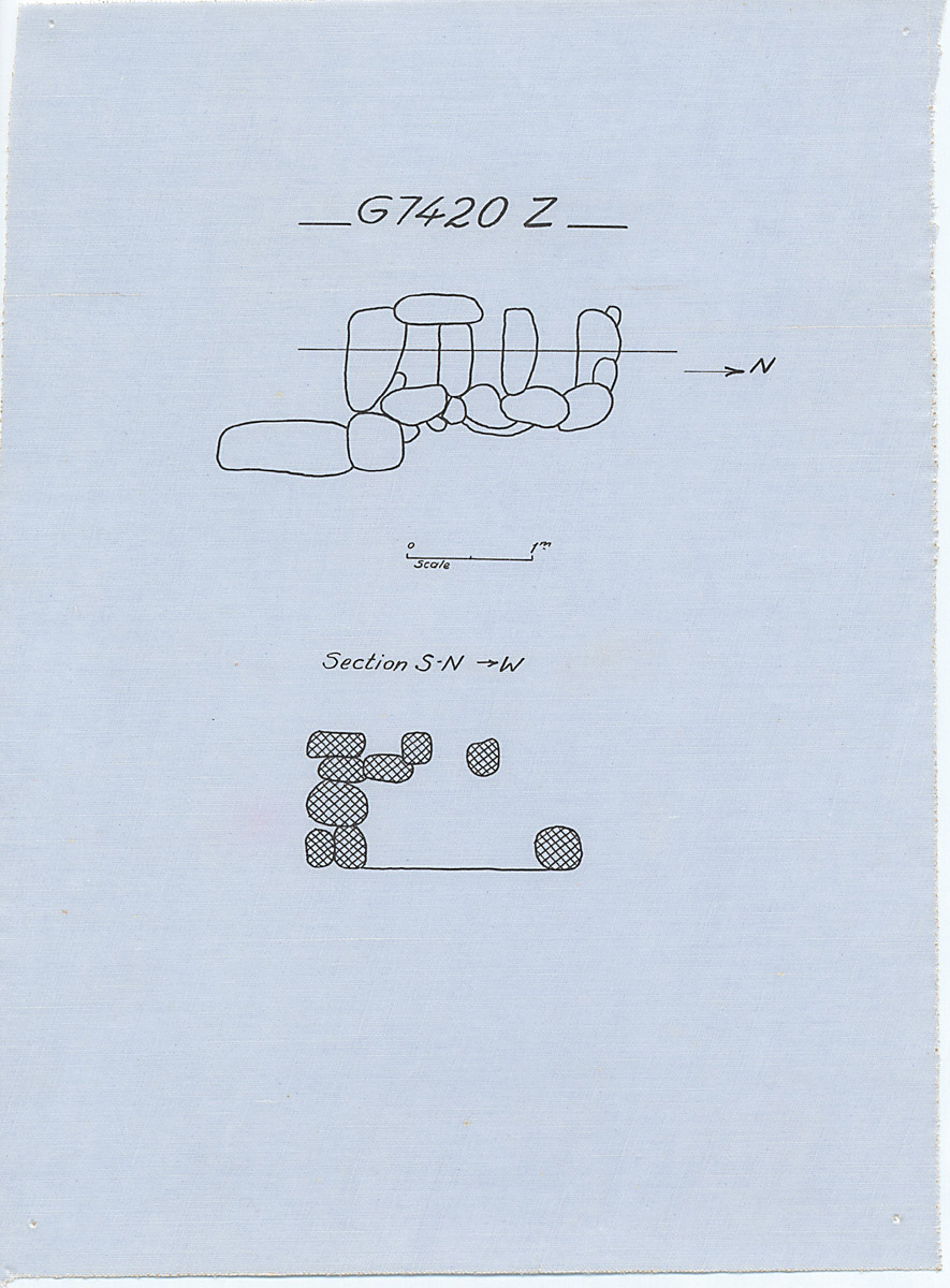 Maps and plans: G 7410-7420: G 7420, Shaft Z