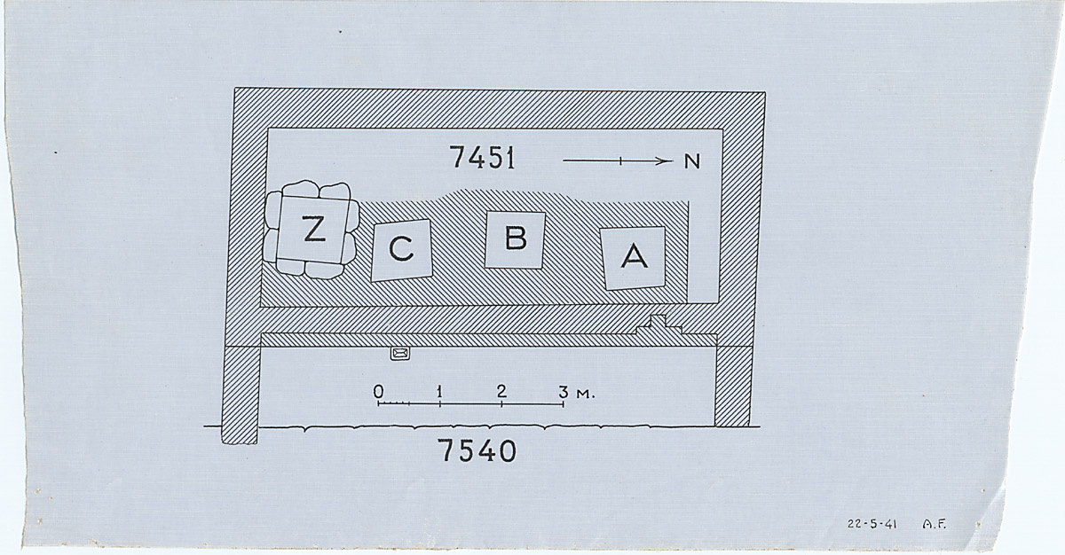 Maps and plans: Plan of G 7451, with position of G 7530-7540: G 7540