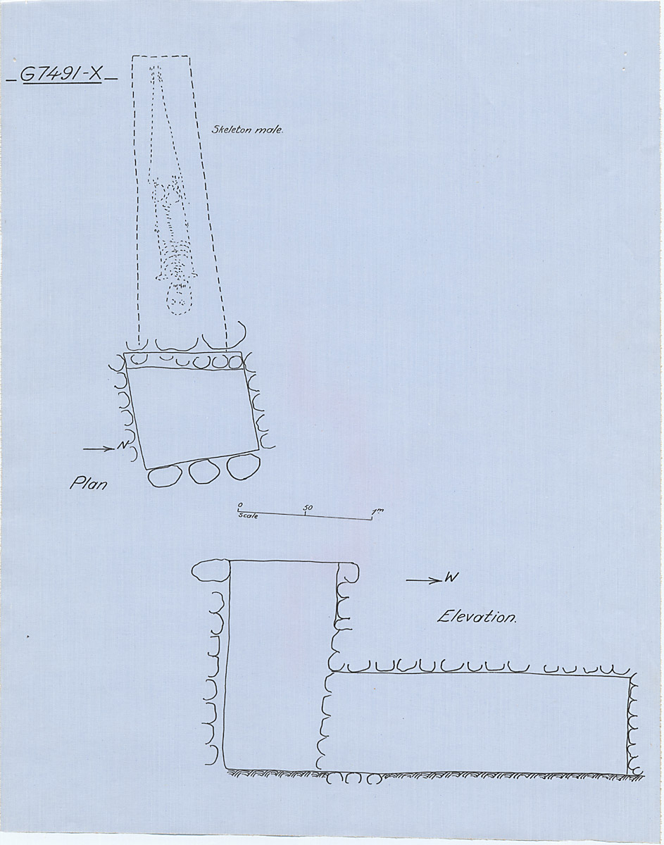 Maps and plans: G 7491, Shaft X