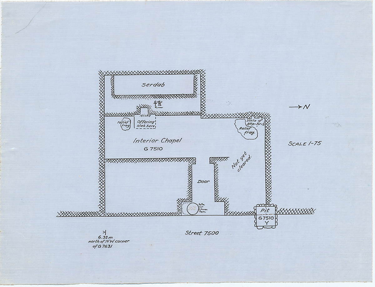 Maps and plans: G 7510, Plan of interior chapel