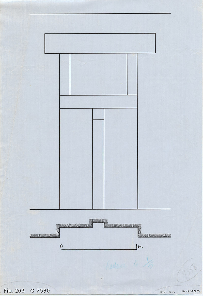 Maps and plans: G 7530-7540: G 7530, Plan and elevation of false door