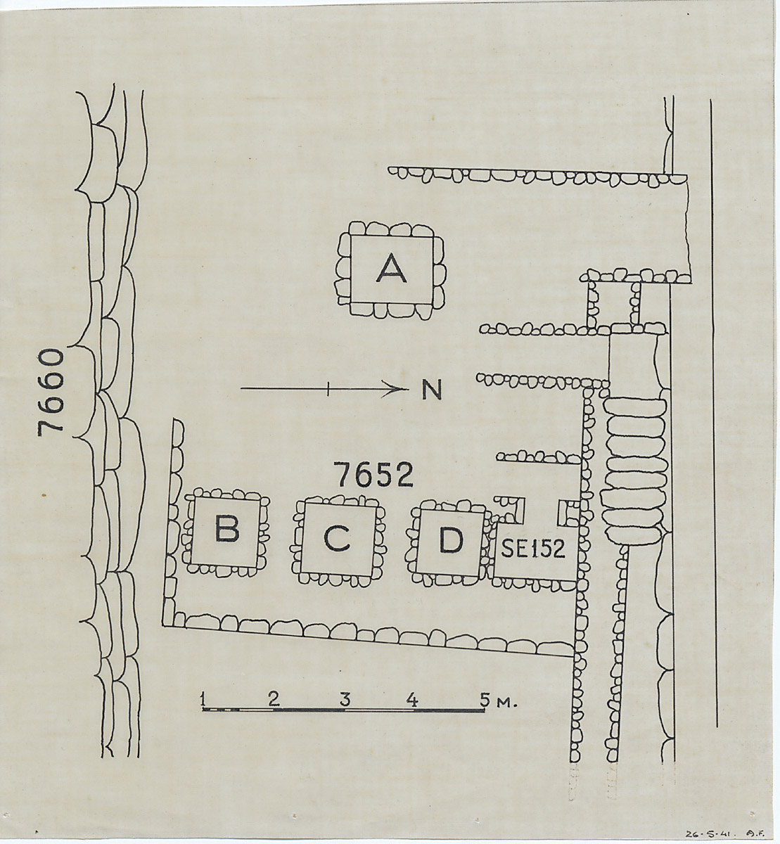 Maps and plans: Plan of G 7652 and G 7000 SE 152, with position of G 7660