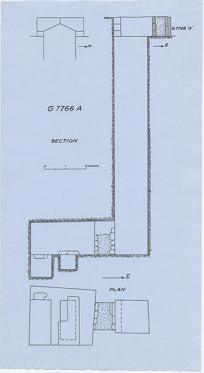Maps and plans: G 7766, Shaft A