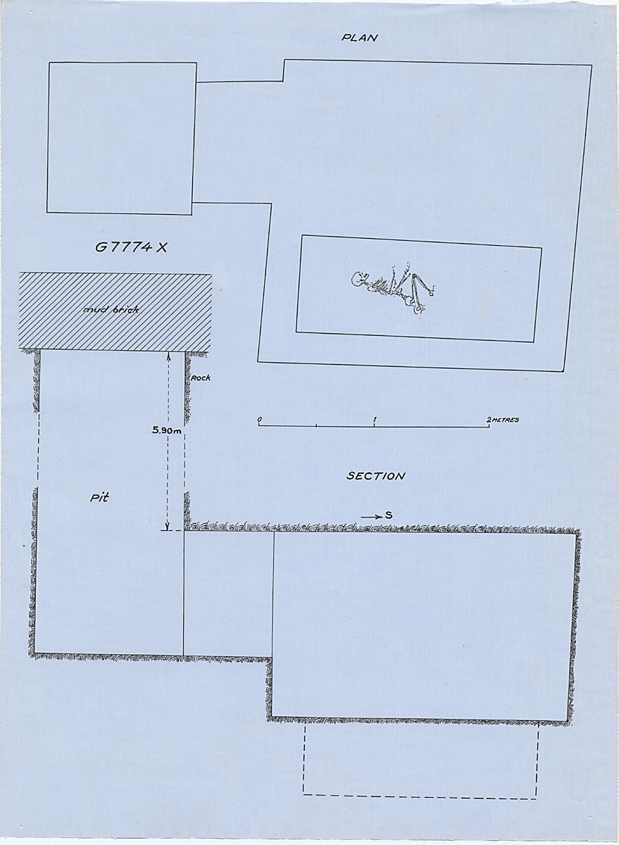 Maps and plans: G 7774, Shaft X