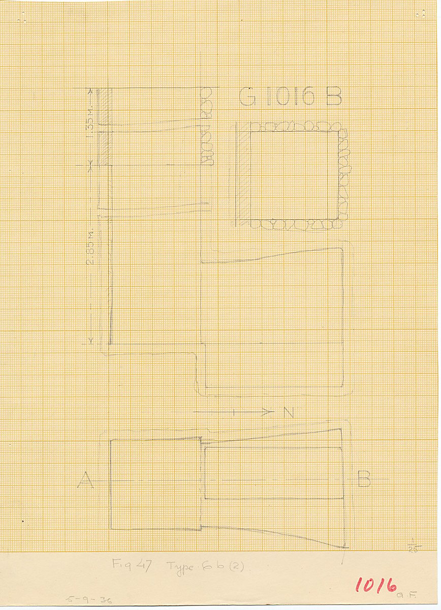 Maps and plans: G 1016, Shaft B