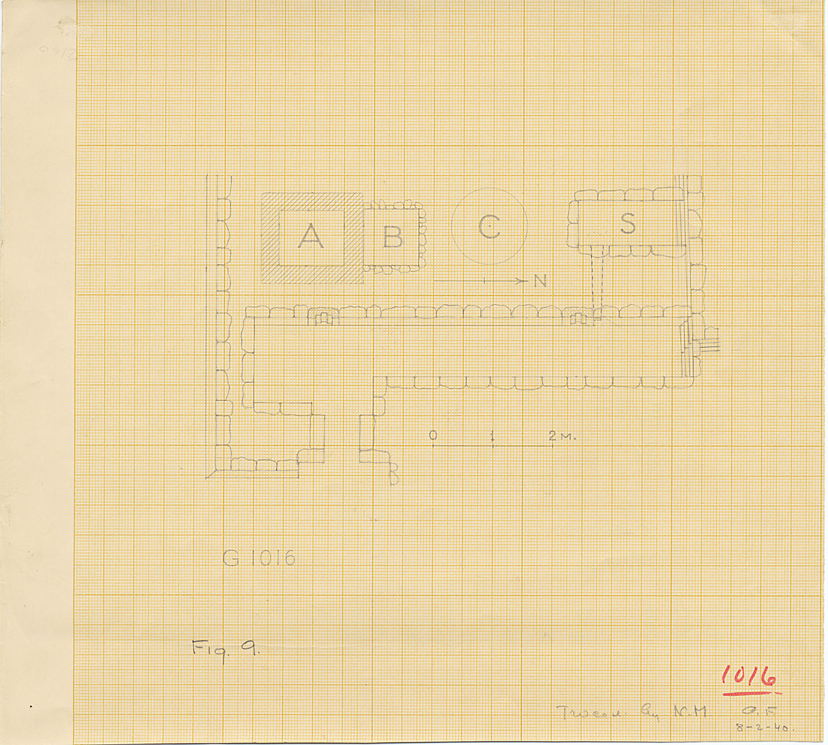 Maps and plans: G 1016, Plan (partial)