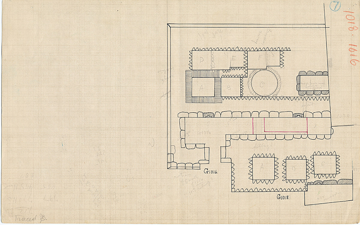 Maps and plans: Plan of G 1016 and G 1018