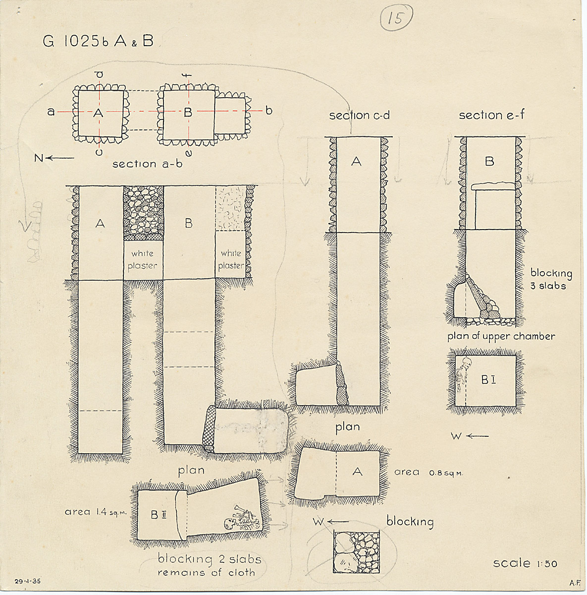 Maps and plans: G 1025b, Shaft A and B