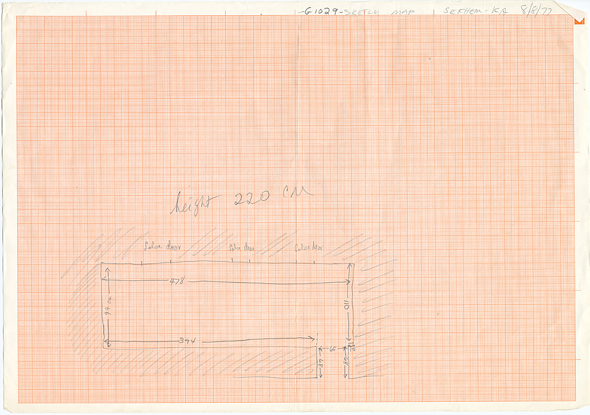 Maps and plans: G 1029, Plan of chapel