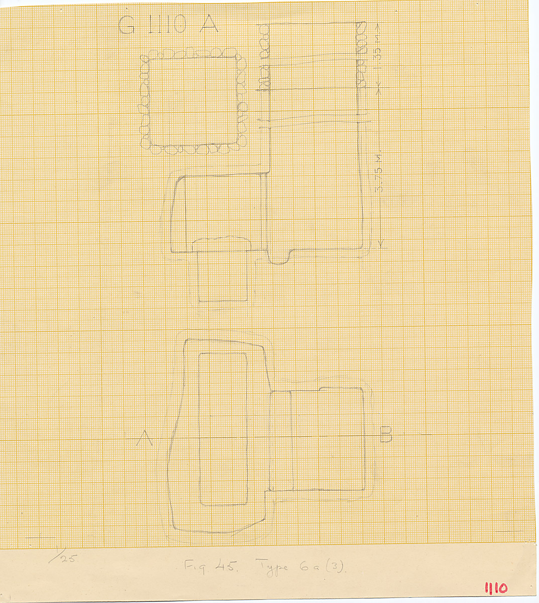Maps and plans: G 1110, Shaft A