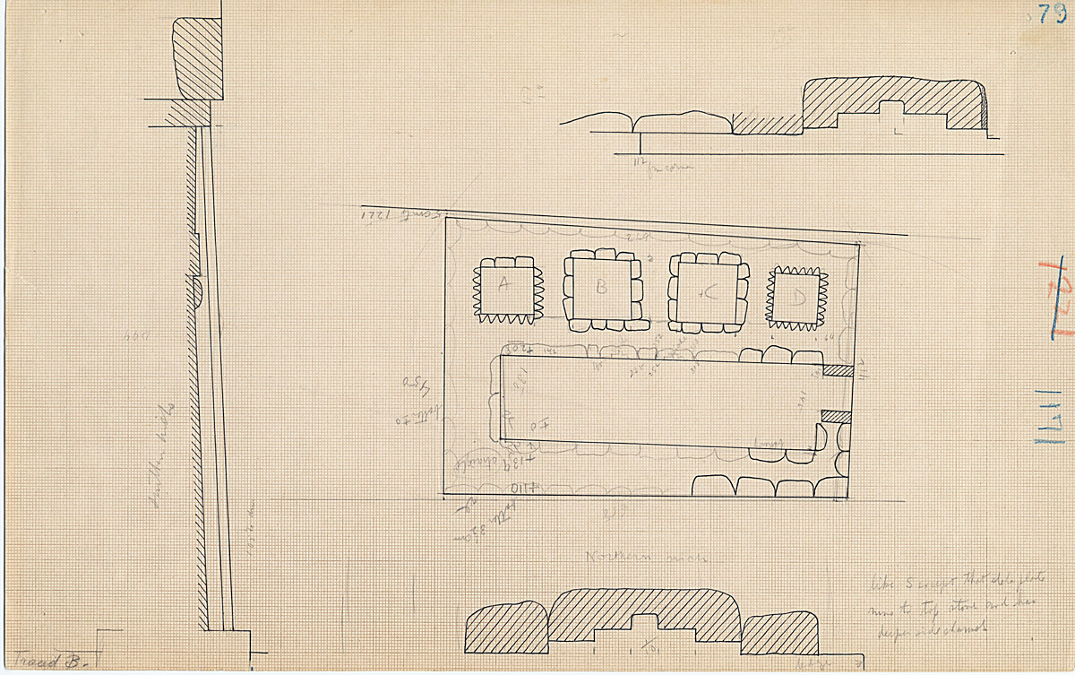 Maps and plans: G 1171, Plan & Plan and section of false doors