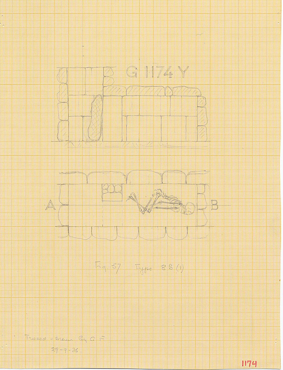 Maps and plans: G 1174 Y = G 1176, Shaft Y