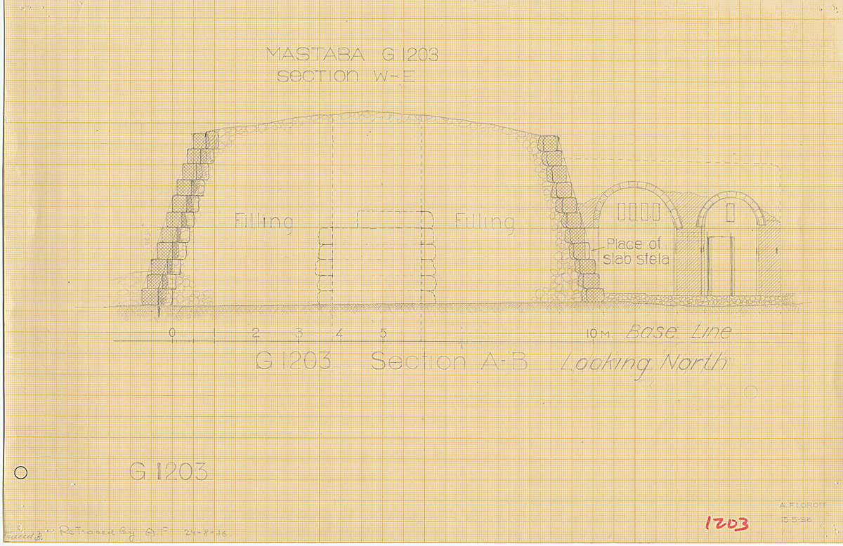 Maps and plans: G 1203, Section west-east