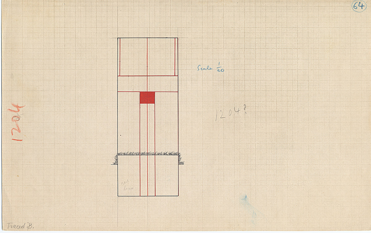 Maps and plans: G 1204, False door