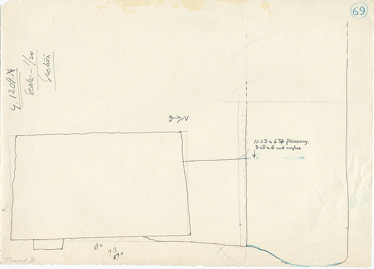 Maps and plans: G 1209, Shaft A