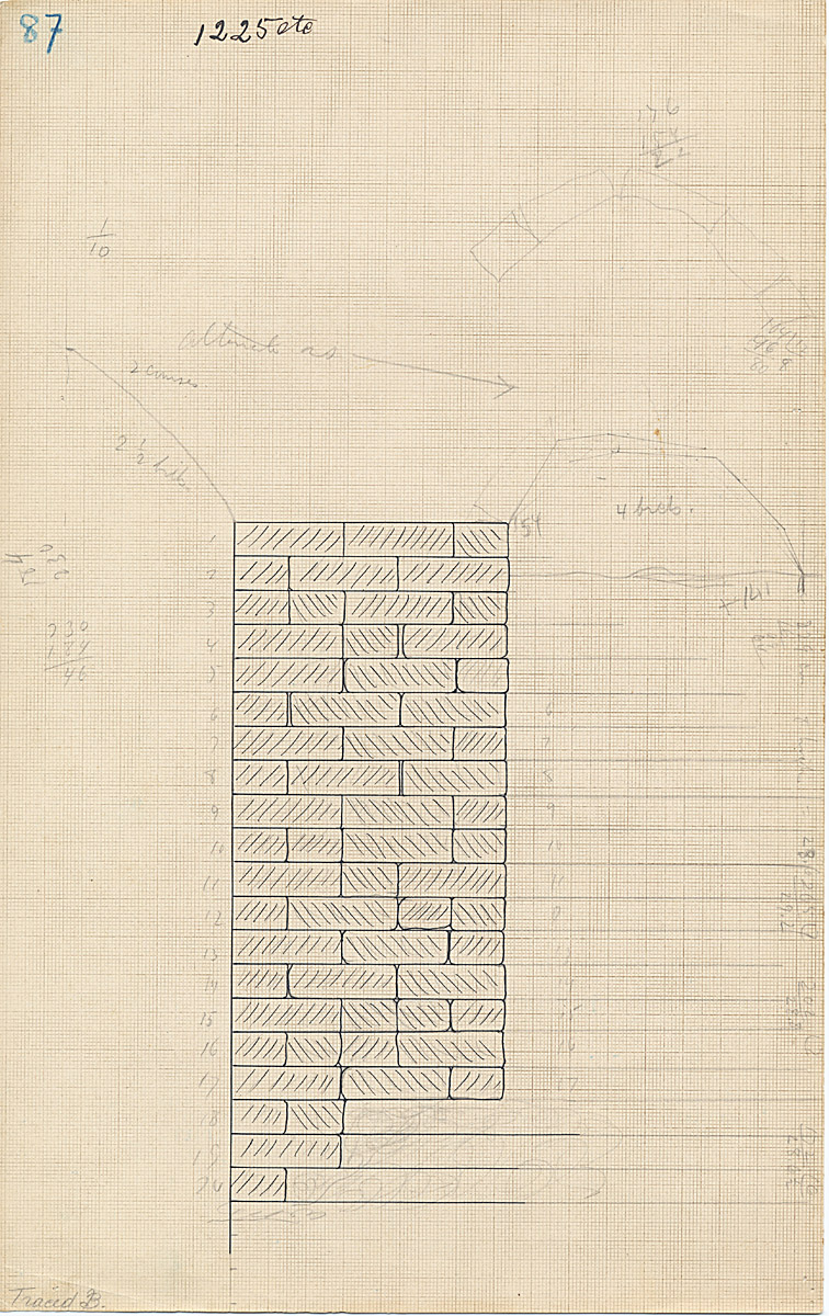 Maps and plans: G 1225-Annex, part of chapel mud brick vault