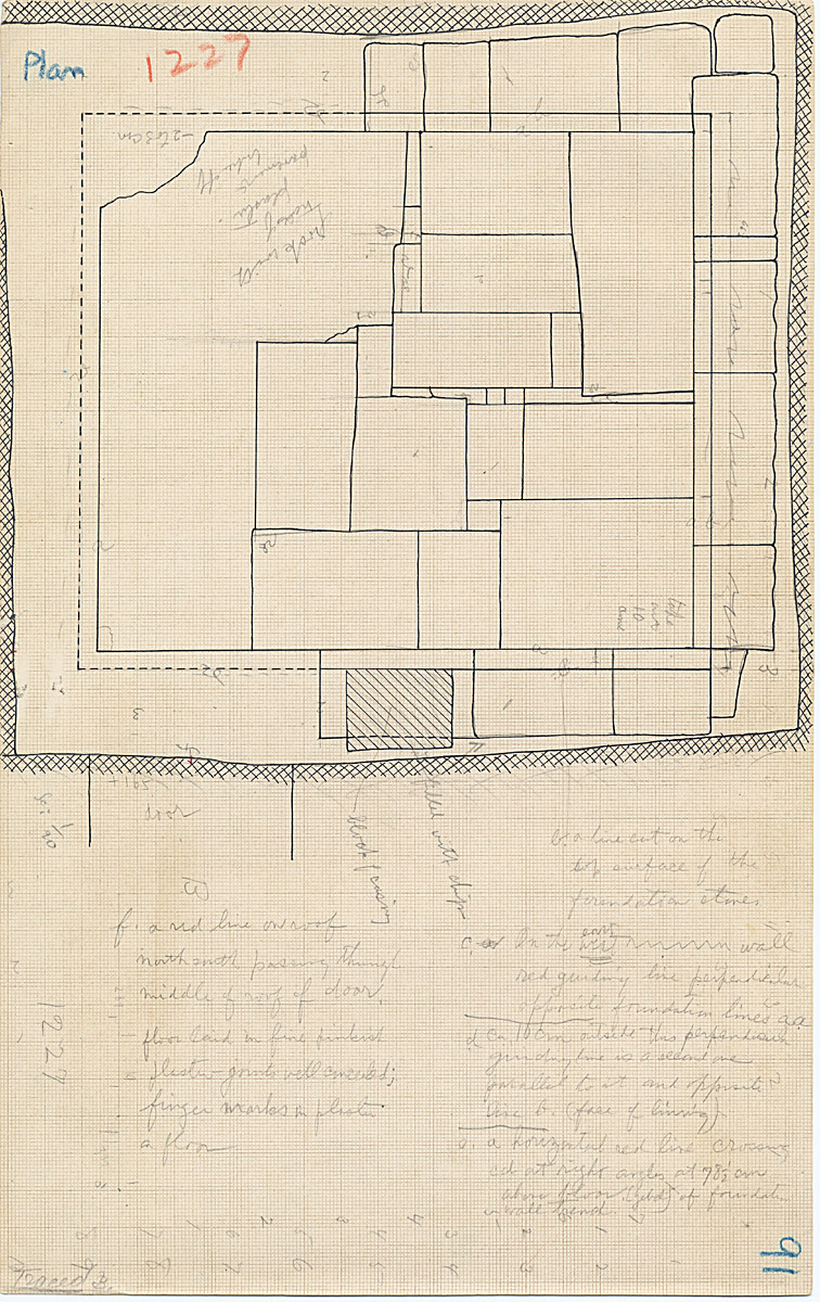 Maps and plans: G 1227, Shaft A, plan of chamber